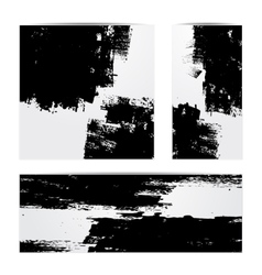 Grunge paper set vector image