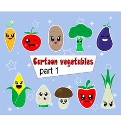 Hand drawn vegetables set vector