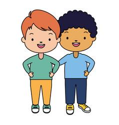 happy kids character vector image