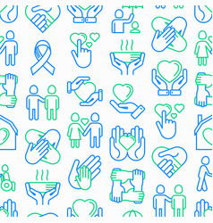 help and care seamless pattern vector image