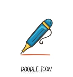 Icon of Doodle Automatic Pen vector image