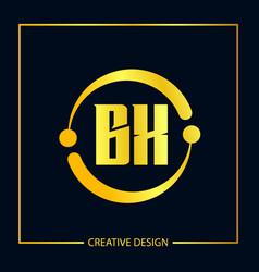 Initial letter bx logo template design vector
