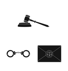Isolated object of law and lawyer symbol vector