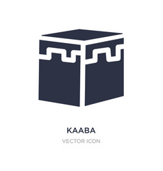 Kaaba icon on white background simple element vector
