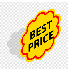 Label best price isometric icon vector