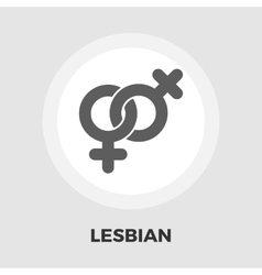 Lesbian sign flat icon vector image