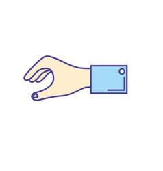 man hand to business negotiation icon vector image