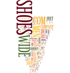 mens wide shoes text background word cloud concept vector image