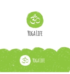 Minimalistic yoga logotype in trendy hand vector