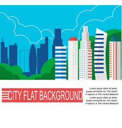 Modern city landscape with high skyscrapers vector