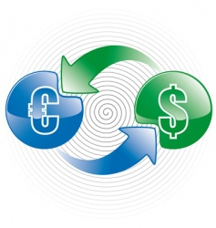 Money exchange icon vector