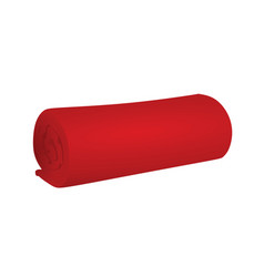 Red blanket vector
