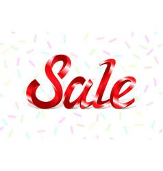 red metal lettering sale price offer deal labels vector image