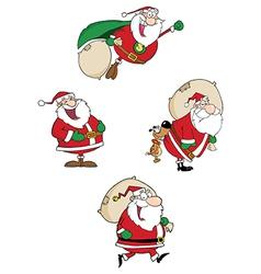 Santa Claus Waving A Greeting Collection vector image
