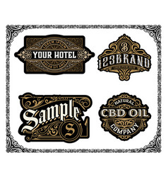 set logos labels and banners layered vector image