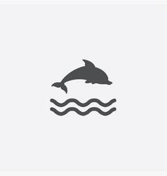 simple dolphin icon vector image