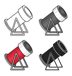Snow cannon icon in cartoon style isolated on vector