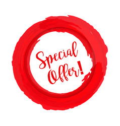 special offer grunge style red colored on white vector image