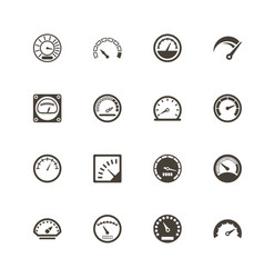 Speedometer - flat icons vector