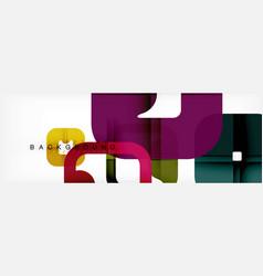 square geometric background multicolored template vector image