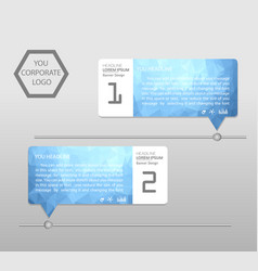 timeline infographics banner template modern info vector image