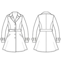 Trench coat vector image