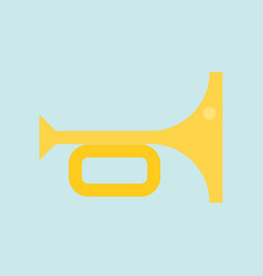 trumpet simple flat design icon soccer related vector image