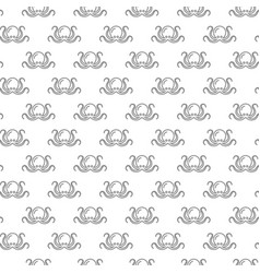 unique digital octopus seamless pattern with vector image vector image