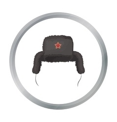 Ushanka icon in cartoon style isolated on white vector image