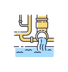 Water supply rgb color icon vector
