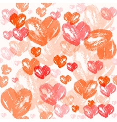 Watercolor heart pattern valentines day vector