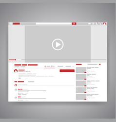 Web browser social media youtube video player vector