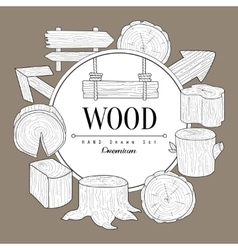 Wood Vintage Sketch vector