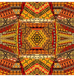 African motifs collage made of textile patchworks vector image