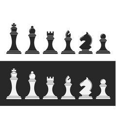 black and white chess vector image