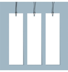 Blank Tags Ready for your design vector image