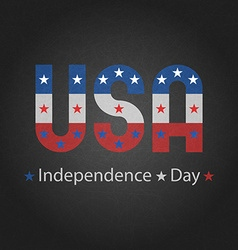 Independence day of USA grey background for poster vector image