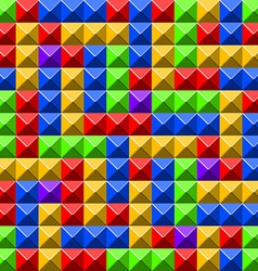 Pyramid tiles pattern vector image vector image