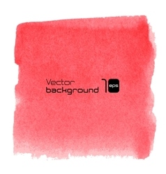 Water-colour red background for presentation vector image
