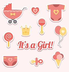 Baby shower for a girl vector image vector image