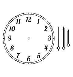 clock face round vector image
