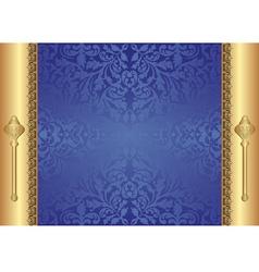 gold blue background vector image