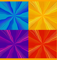set of rays and lines from the center vector image vector image