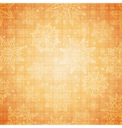 Snowflakes and stars over golden background vector image