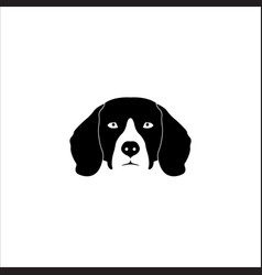 Beagle dog head vector