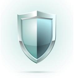 Blank shield security icon vector image