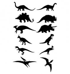 dinosaur silhouette vector image vector image