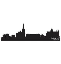 Galway Ireland skyline Detailed silhouette vector image vector image