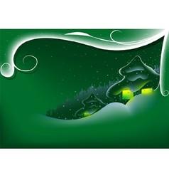 Green Abstract Xmas vector image vector image