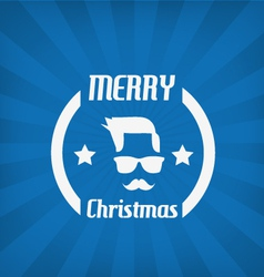 Hipster face christmas icon vector image vector image
